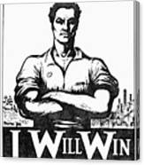 Iww Poster, 1917 Canvas Print
