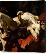 Ixion Thrown Into Hades Canvas Print