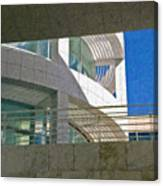J. Paul Getty Museum Abstract View Canvas Print