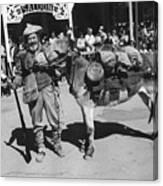 Jack Hendrickson With Pet Burro Number 3 Helldorado Days Parade Tombstone Arizona 1980 Canvas Print