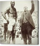 Jack Johnson - Heavyweight Boxing Champion  1908 - 1915 Canvas Print