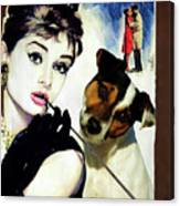 Jack Russell Terrier Art Canvas Print - Breakfast At Tiffany Movie Poster Canvas Print