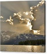 Jackson Lake Sunset View Canvas Print