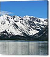 Jackson Lake Teton Panorama Canvas Print