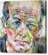 Jackson Pollock - Watercolor Portrait.3 Canvas Print