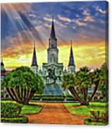 Jackson Square Evening Rays Canvas Print
