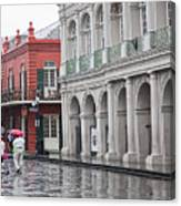 Jackson Square Rainy Day  Canvas Print