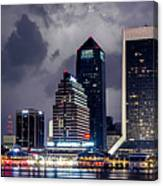 Jacksonville On A Stormy Evening Canvas Print