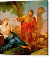 Jacob And Rachel Leaving The House Of Laban Canvas Print