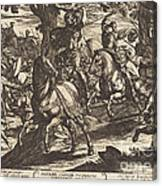 Jacob Kills Absalom, Son Of King David Canvas Print
