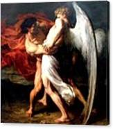 Jacob Wrestling With The Angel Canvas Print