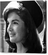 Jacqueline Kennedy, Joins The President Canvas Print