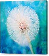 Jade Dandelion Canvas Print