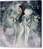 Jade Green Empress Canvas Print
