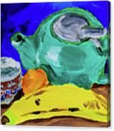 Jade Teapot  Canvas Print