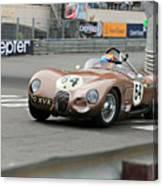 Jaguar C-type At Monaco Canvas Print