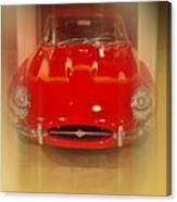 Jaguar E-type 1960s Canvas Print