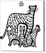 Jaguar Family Canvas Print