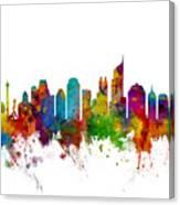 Jakarta Skyline Indonesia Canvas Print
