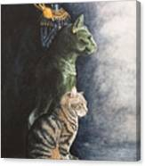 Jake And The Ancestors-pet Portrait Canvas Print