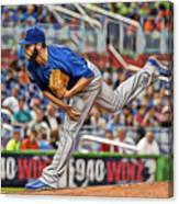 Jake Arrieta Chicago Cubs Pitcher Canvas Print