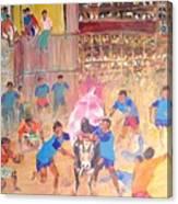 Jallikattu- The Bull Fight Canvas Print