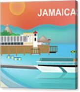 Jamaica Horizontal Scene Canvas Print