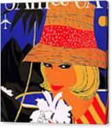 Jamaica, Woman With Orange Hat Canvas Print