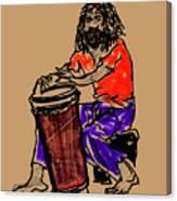 Jamaican Drummer Canvas Print