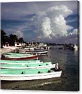 Jamaican Fishing Boats Canvas Print