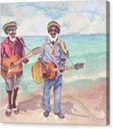 Jamaican Musician Watercolor Canvas Print