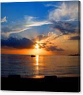 Jamaican Sunset Rays  By Steve Ellenburg Canvas Print