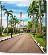 Jame'asr Hassanil Bolkiah Mosque In Brunei Canvas Print
