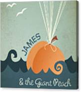 James And The Giant Peach Canvas Print