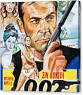 James Bond Dr.no 1962 Canvas Print