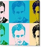 James Dean Pop Art Canvas Print