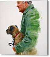 James Herriot And Bodie Canvas Print