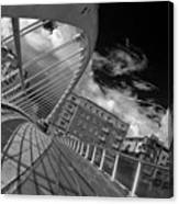 James Joyce Bridge 2 Bw Canvas Print