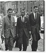 James Meridith And Ole Miss Integration 1962 Canvas Print