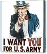 I Want You For U.s. Army Canvas Print