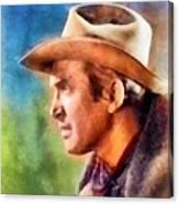 James Stewart, Vintage Hollywood Legend Canvas Print