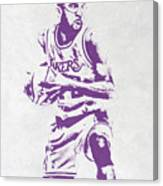 James Worthy Los Angeles Lakers Pixel Art Canvas Print