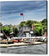 Jamestown Boat Yard Canvas Print