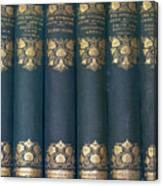 Jane Austain Books Canvas Print