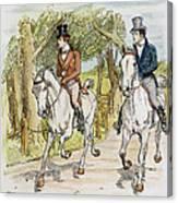 Jane Austen: Illustration Canvas Print