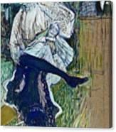 Jane Avril Dancing Circa 1892 Canvas Print