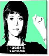 Jane Fonda Mug Shot - Mint Canvas Print