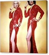 Jane Russel And Marilyn Monroe Canvas Print