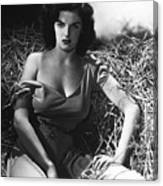 Jane Russell In The Outlaw Wow Canvas Print