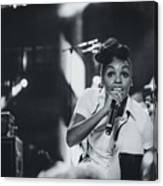 Janelle Monae Playing Live Canvas Print
